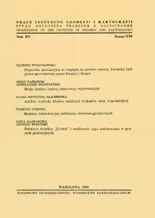 """Dalmierz świetlny """"Kristał"""" i możliwości jego zastosowania w pracach geodezyjnych"""