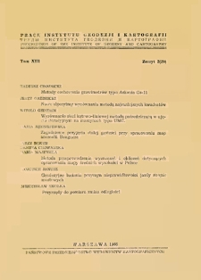 Prace Instytutu Geodezji i Kartografii 1966 t. 13 z 2(29) - wprowadzenie