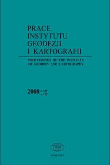 Prace Instytutu Geodezji i Kartografii 2008 z. 112 - wprowadzenie