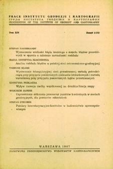 Prace Instytutu Geodezji i Kartografii 1967 t.14 z. 1(31) – wprowadzenie