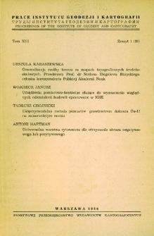 Prace Instytutu Geodezji i Kartografii 1966 t. 13 z 1(28) - wprowadzenie
