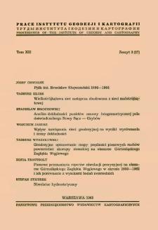 Prace Instytutu Geodezji i Kartografii 1965 t. 12 z. 3(27) - wprowadzenie