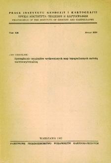 Prace Instytutu Geodezji i Kartografii 1965 t. 12 z. 2(26) - wprowadzenie