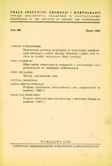 Prace Instytutu Geodezji i Kartografii 1965 t. 12 z. 1(25) - wprowadzenie
