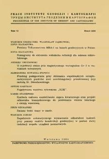Przebieg postępowania przy obliczaniu współrzędnych autogrametrycznych punktów sieci aerotriangulacji przestrzennej (xy) metodą St. Dmochowskiego