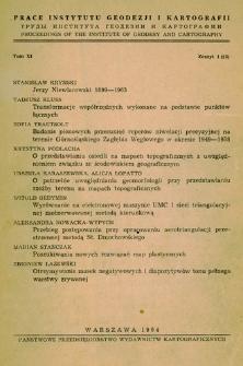 Prace Instytutu Geodezji i Kartografii 1964 t. 11 z. 1(23) - wprowadzenie