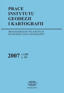 Prace Instytutu Geodezji i Kartografii 2007 z. 111 - wprowadzenie