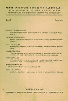 Prace Instytutu Geodezji i Kartografii 1963 t. 10 z. 1(21) - wprowadzenie