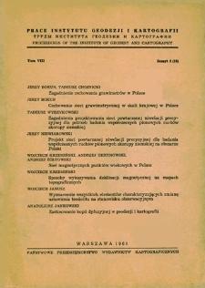 Prace Instytutu Geodezji i Kartografii 1961 t. 8 z. 2(18) - wprowadzenie