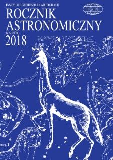 Rocznik Astronomiczny na rok 2018