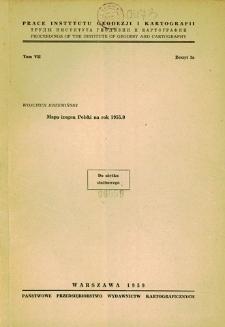 Prace Instytutu Geodezji i Kartografii 1959 t. 7 z. 1a - wprowadzenie
