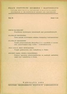 Prace Instytutu Geodezji i Kartografii 1959 t. 6 z. 2(14) - wprowadzenie