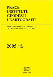 Prace Instytutu Geodezji i Kartografii 2005 z. 109 - wprowadzenie