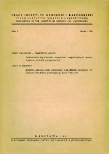 Prace Instytutu Geodezji i Kartografii 1957 t. 5 z. 3(12) - wprowadzenie