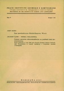 Prace Instytutu Geodezji i Kartografii 1957 t. 5 z. 2(11) - wprowadzenie