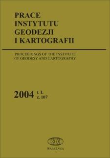 Prace Instytutu Geodezji i Kartografii 2004 z. 107 – wprowadzenie