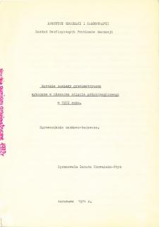 Morskie pomiary grawimetryczne wykonane w obszarze zdjęcia półszczegółowego w 1972 roku