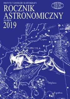 Rocznik Astronomiczny na rok 2019