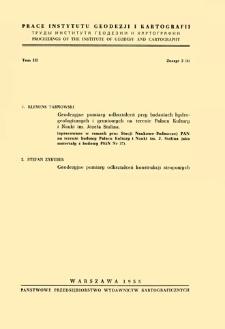 Prace Instytutu Geodezji i Kartografii 1955 t. 3 z. 2(6) - wprowadzenie