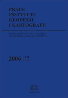 Prace Instytutu Geodezji i Kartografii 2006 z. 110 - wprowadzenie