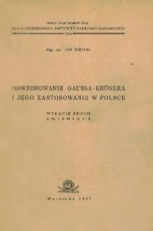 Odwzorowanie Gaussa-Krügera i jego zastosowanie w Polsce