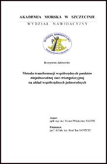 Metoda transformacji współrzędnych punktów niejednorodnej sieci triangulacyjnej na układ współrzędnych jednorodnych